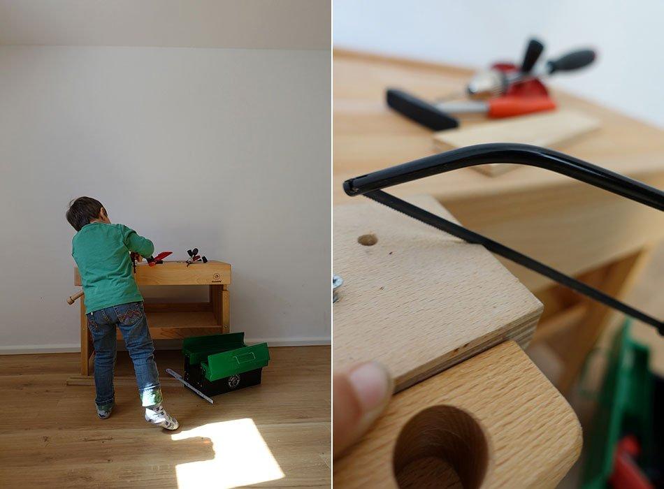 Werkbank, Kinderwerkzeug, Akkuschrauber, Handbohrer, Bits, Kinder, Junge, 4 Jahre, Geschenk