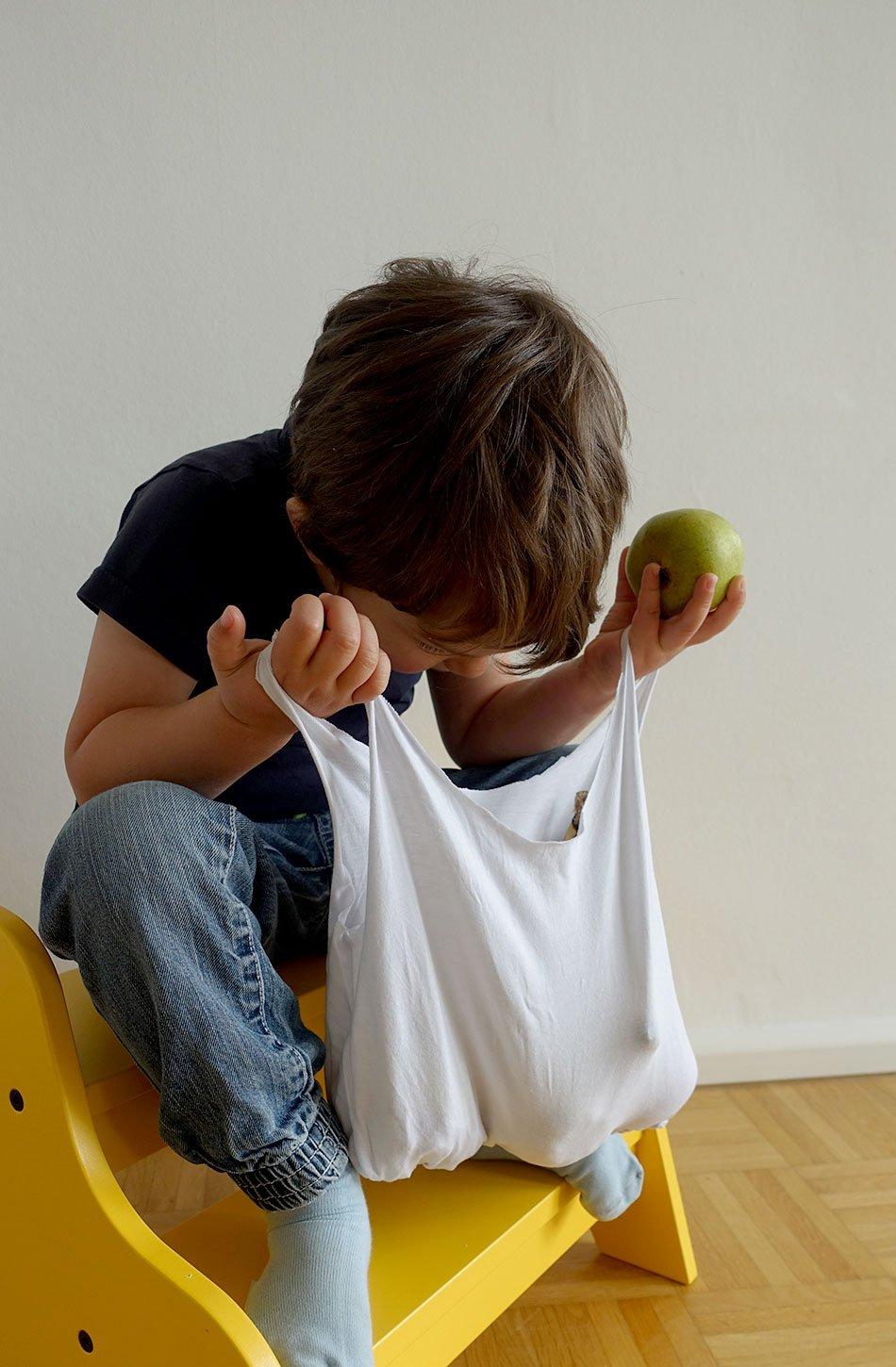 DIY with and for kids, bag, shirt, without sewing