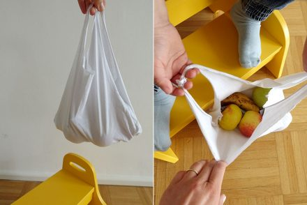 Nachhaltig leben, Familie, einkaufen, Tasche, upcycling, Bastelidee, ohne nähen, Tasche