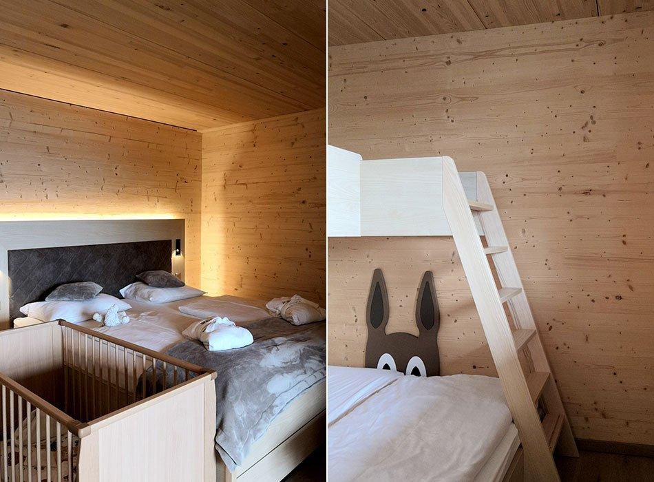 Babybett, Familienzimmer, Berghof, Holzbeet