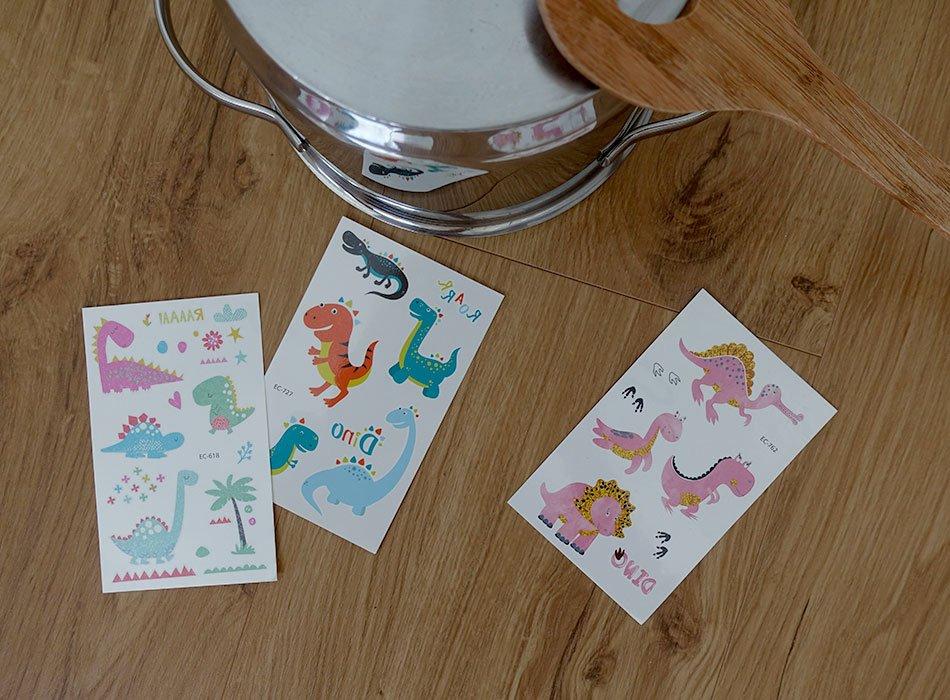 Dino Tattoo Spielidee Kindergeburtstag Geschenk