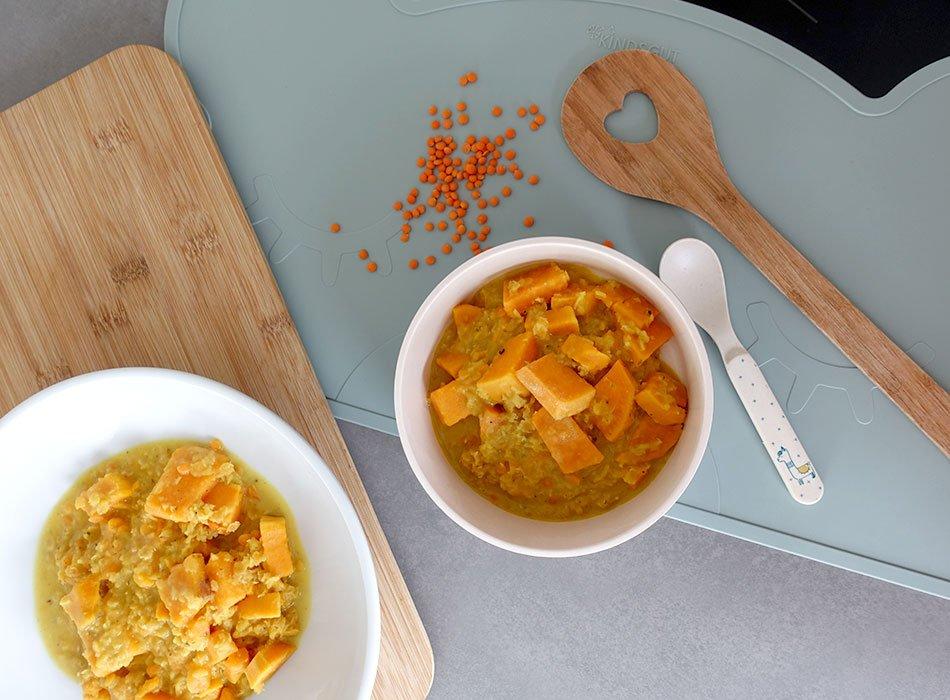 Kokos Curry, Kochen mit Linsen, Vegan, Eintopf, Kleinkind