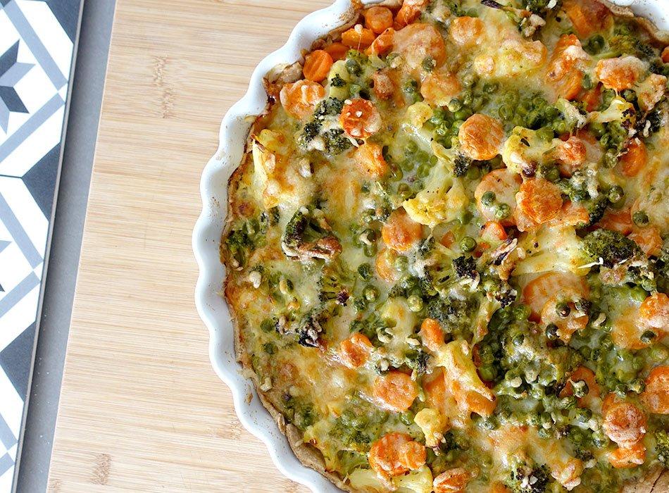 Quiche, Gemüse, einfach, schnell, Kochen für Kinder, Veggie, Speiseplan