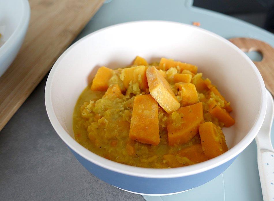 Veganes Curry, Kokos, Rote Linsen, Eisen, vegane Ernährung, Familienküche