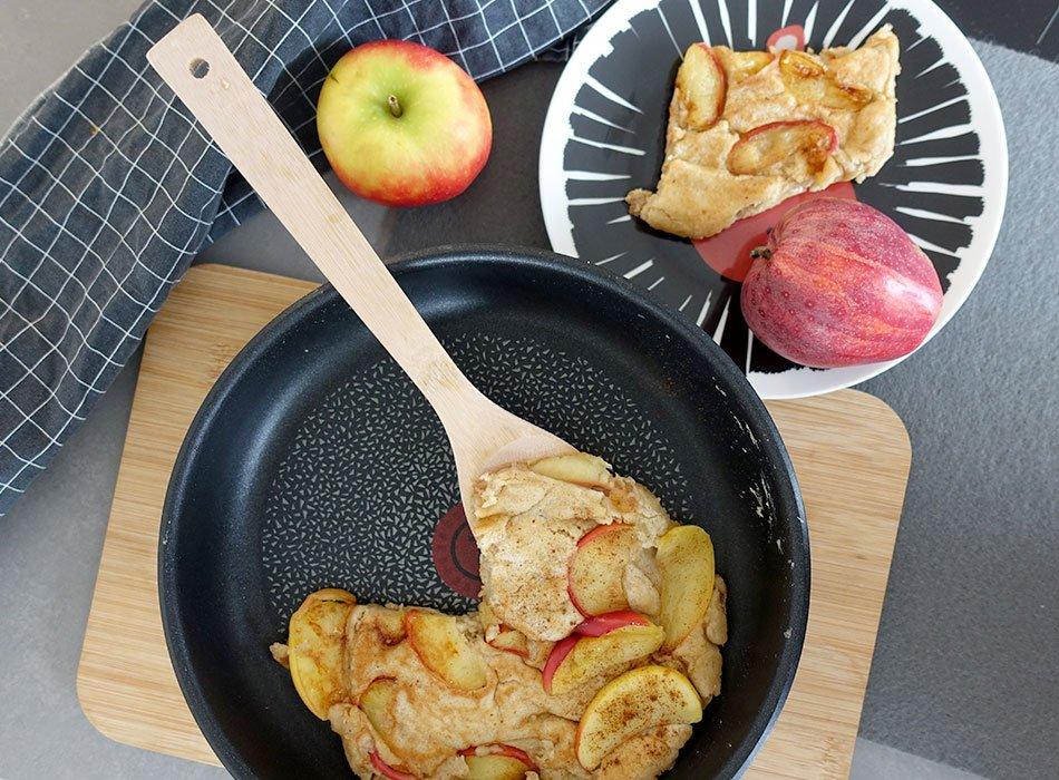 Apfelpfannkuchen ohne Zucker