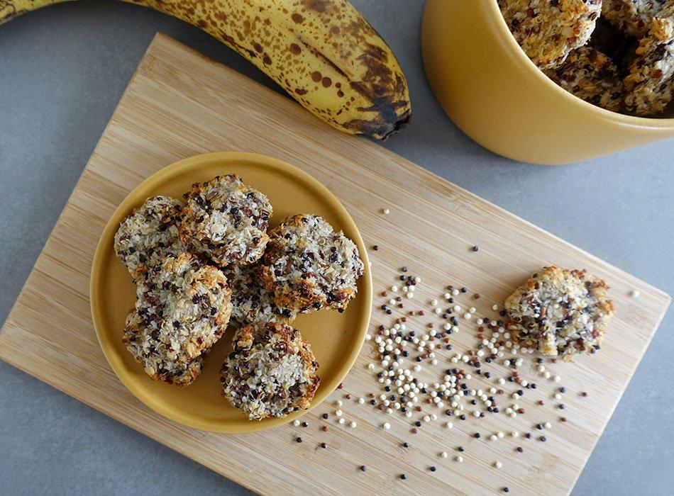 Vegane Kekse mit Kokos und Banane