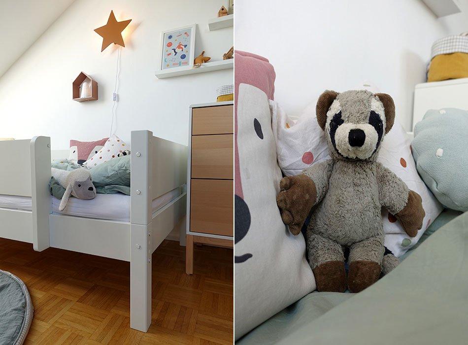 großes Bett im Kinderzimmer