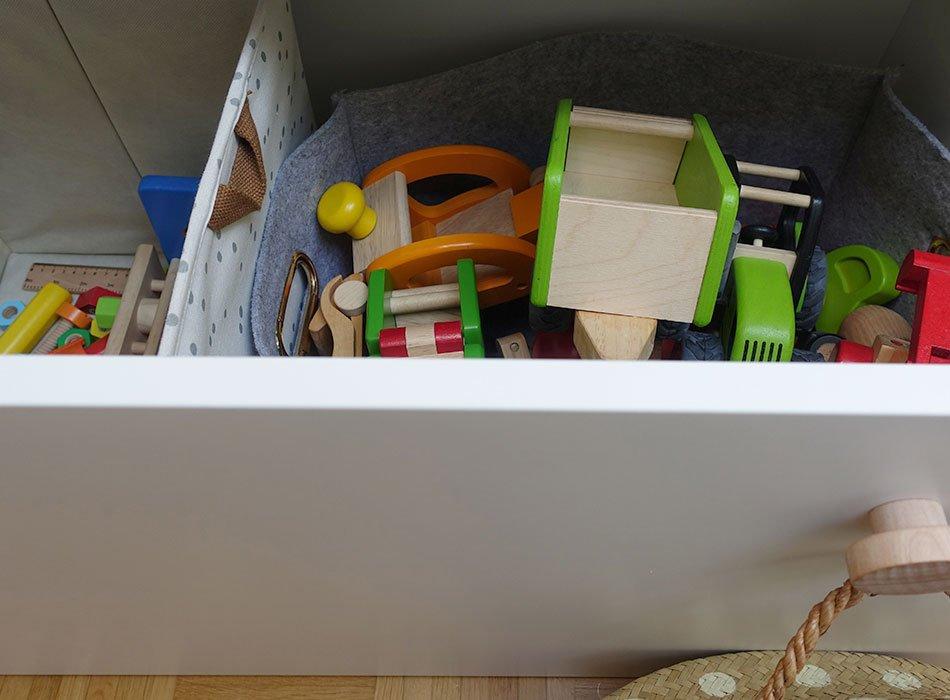 große Kisten für Spielzeug