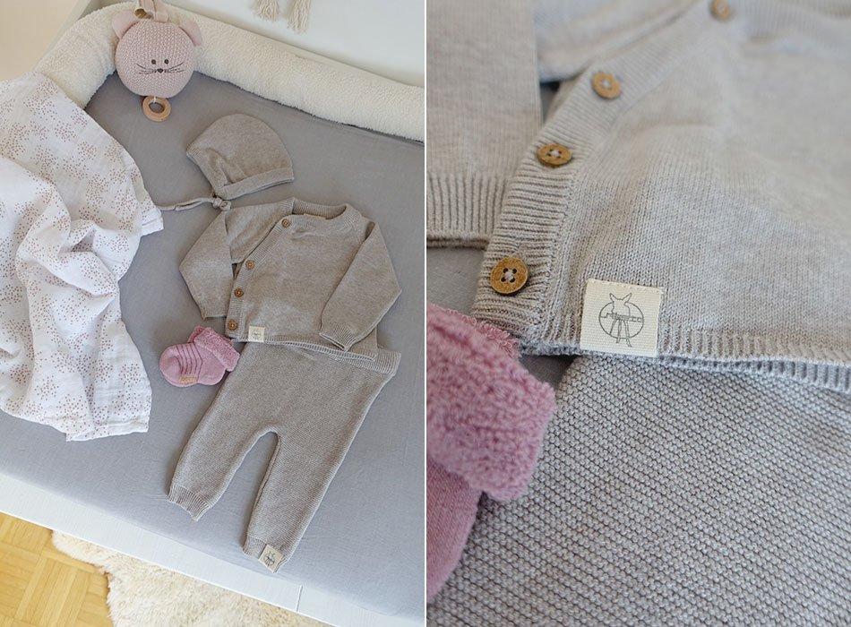 Babykleidung mit Seide