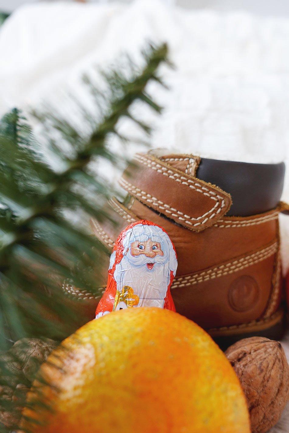Nikolaus Geschenke, Schuhe, Orange, Winter