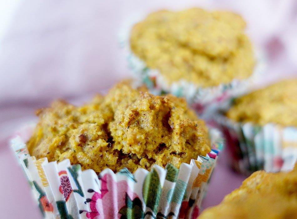 vegan backen: Karottenmuffins ohne Zucker