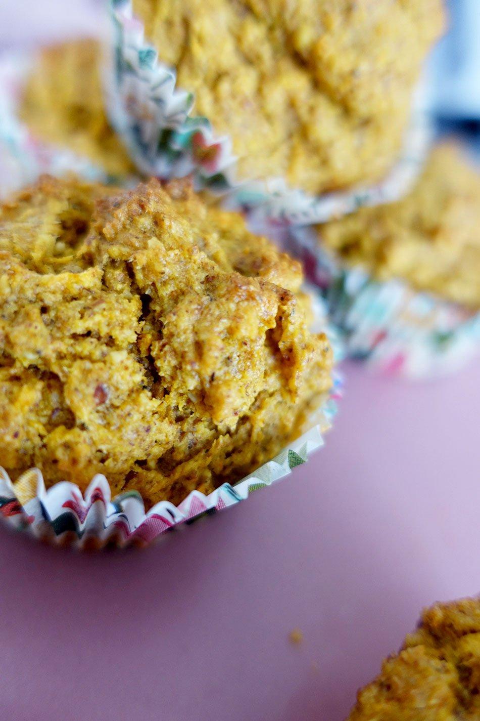 Vegane Karottenmuffins ohne Zucker