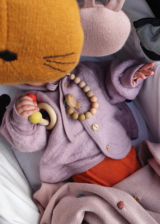 Wollfleece Jacke für Babys