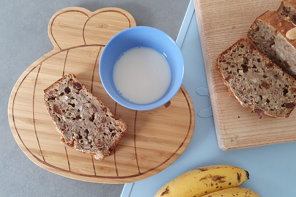 Veganes Bananebrot ohne Zucker