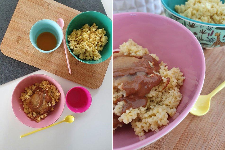 Gesundes Hirse Porridge ohne Zucker