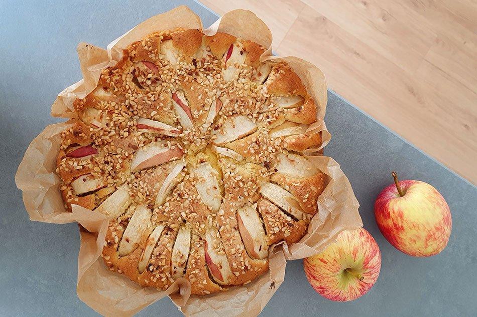 Glutenfreier Apfelkuchen: einfaches Rezept