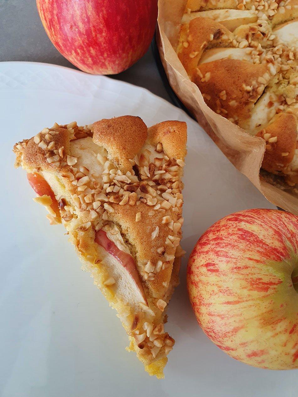 Köstlicher, glutenfreier Apfelkuchen